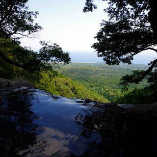 落とすの滝 ピナイサーラの滝上